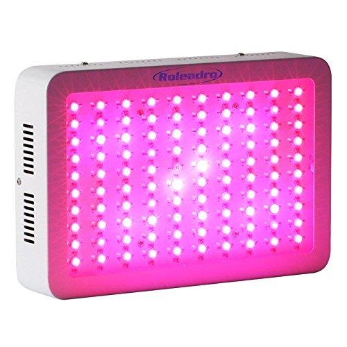 Roleadro 300W LED Pflanzenlampe für Gewächshaus Pflanze Wachstumlampe Zimmerpflanzen Led GrowBox Licht mit IR UV 308*208*60mm