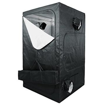 Komplettset Growbox 120x120x200cm mit 600W Hortigear plug&play Wuchs und Blüte Bausatz und Klimaset 300m³ -